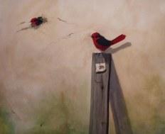 birds oil painting