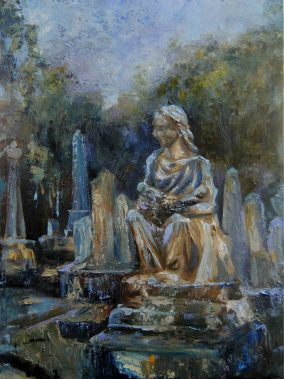 cemetery painting