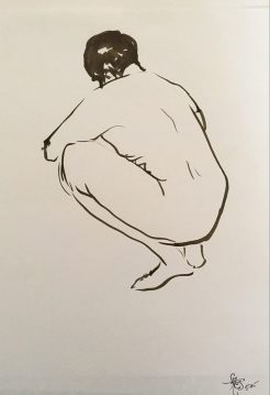 crouched anatomy drawing