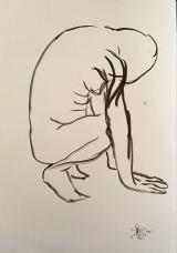 crouched anatomy study