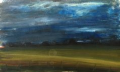 evening french landscape painting