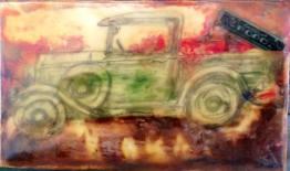 old truck encaustic