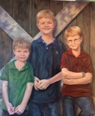 Three boys portrait